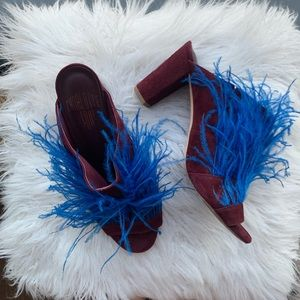 Charlotte Stone feather slides